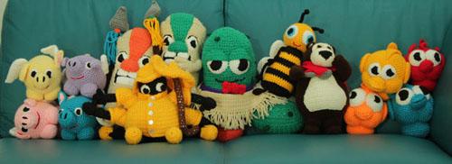 Pogo crochet dolls