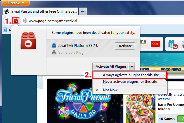 How To Enable Java If It's Been Blocked By Firefox