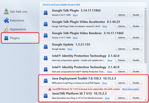 Re: [Solution] Firefox Browser - Enable Java and Tracking