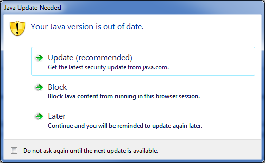 Java update 45 just released