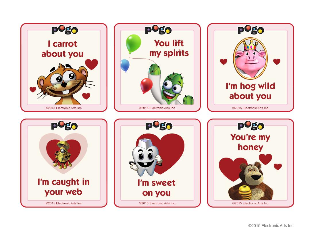 Pogo Valentines Day Cards 2015 – Valentine Cards to Print